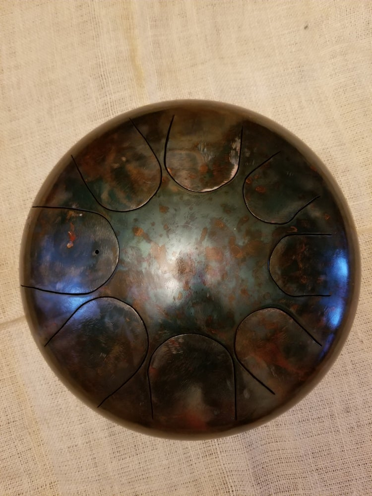 Image of 062 Em 8-note Patina Steel Tongue Drum