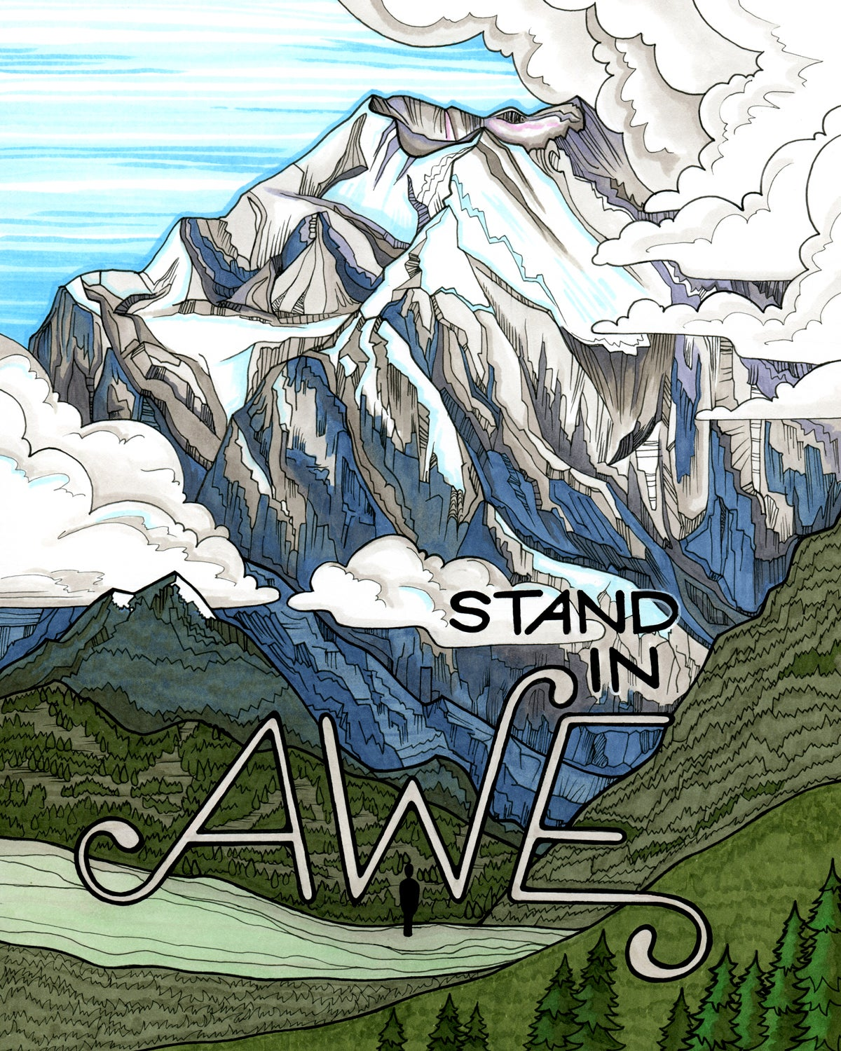 "Image of ""Awe"" art print 8x10"