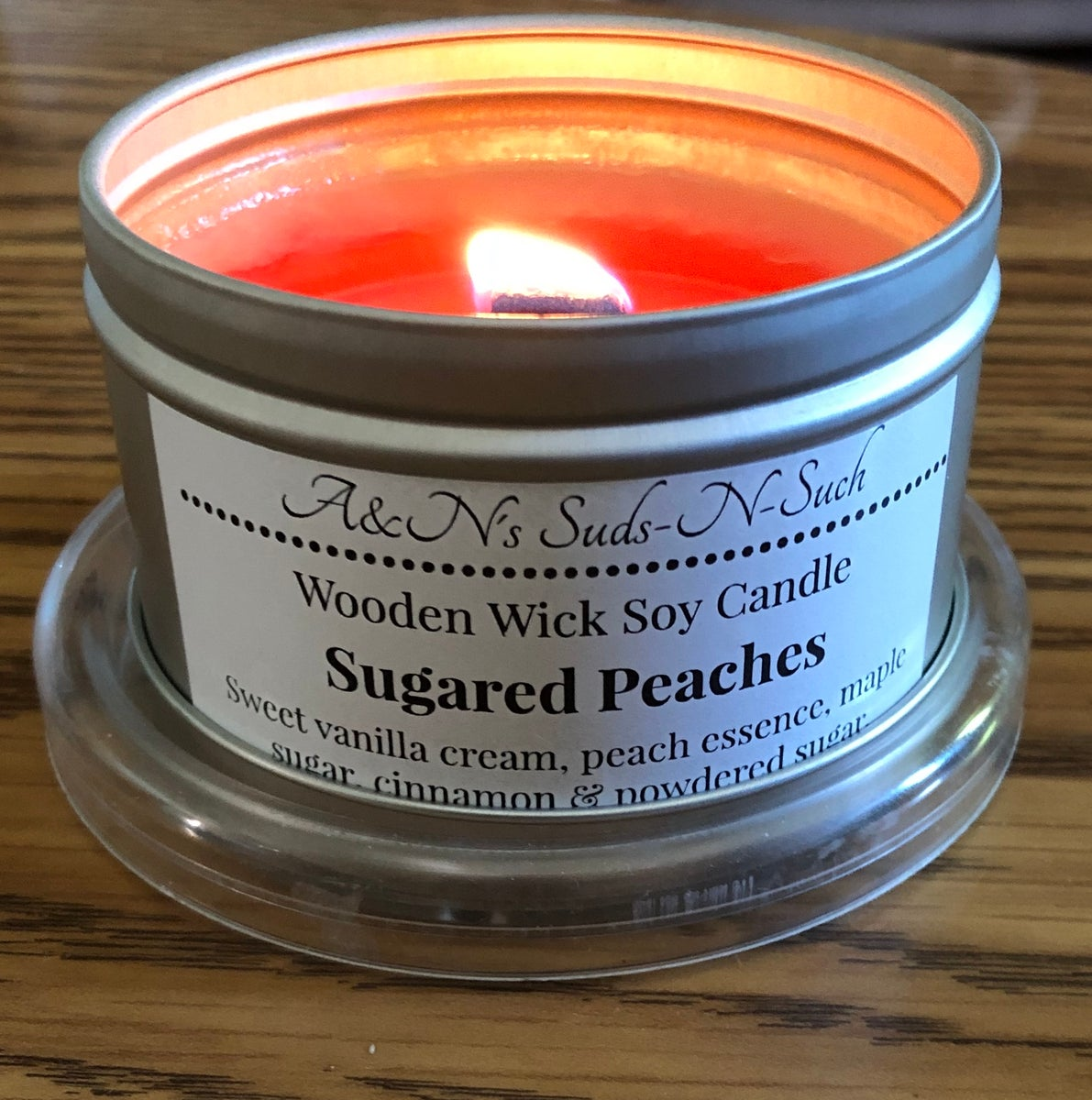 A Amp N S Suds N Such Llc Wooden Wick Soy Candles 6oz