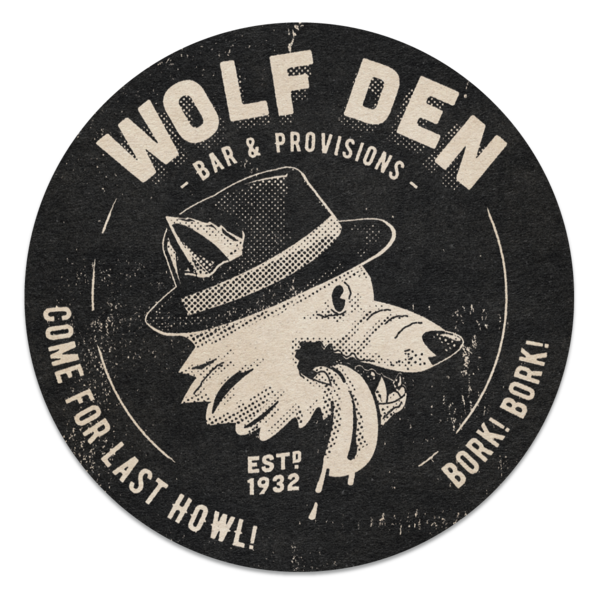 Image of Wolf Den Coasters (2-Pack)