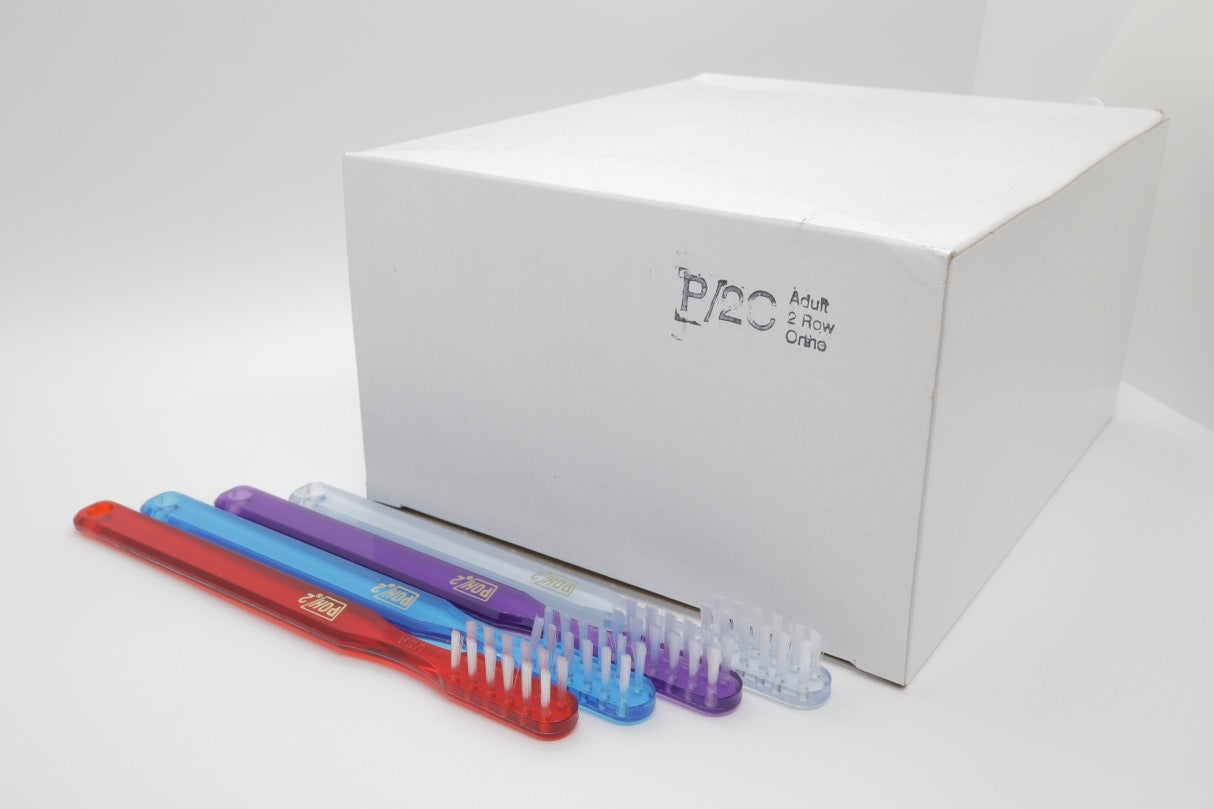 Image of POH #2 Toothbrush Widely-Spaced Orthodontic Braces 2 Rows 12 Tufts