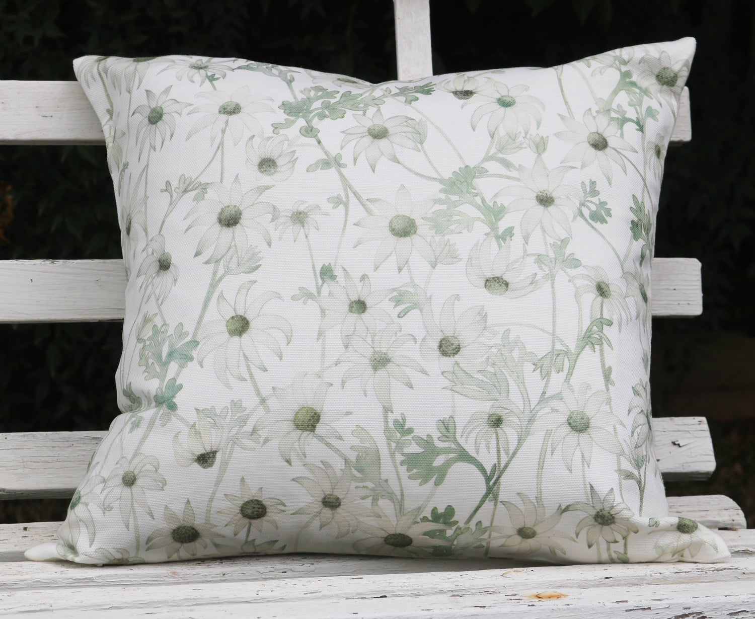 Image of Flannel Flowers Belgian Cotton Linen Cushion