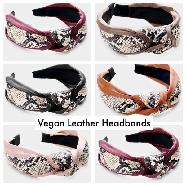 Image of VEGAN LEATHER HEADBANDS - 5 COLORS