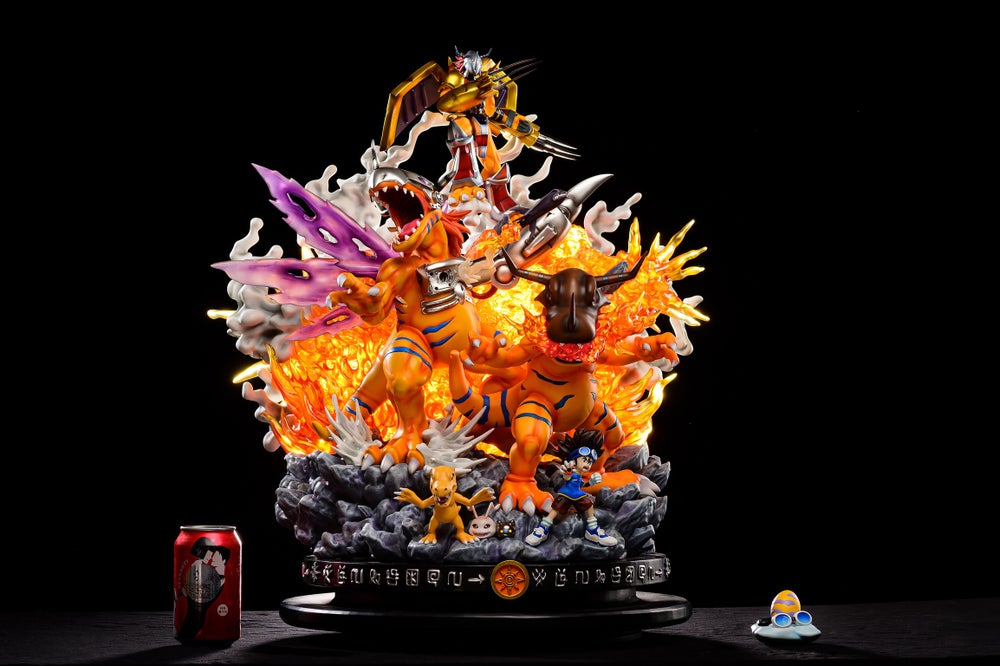 Image of [Pre-Order]Digimon WoodPecker Studio Agumon Resin Statue