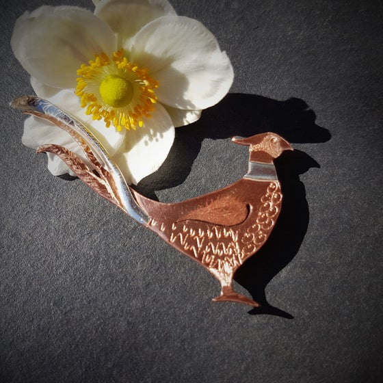 Image of Pheasant Brooch