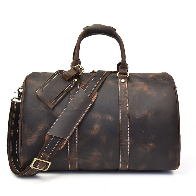 Handcrafted Genuine Leather Travel Bag Duffle Overnight Weekender Xk12027