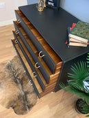 Image 5 of Black & Gold G Plan Tola chest of drawers
