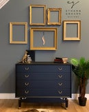 Image 1 of Black & Gold G Plan Tola chest of drawers