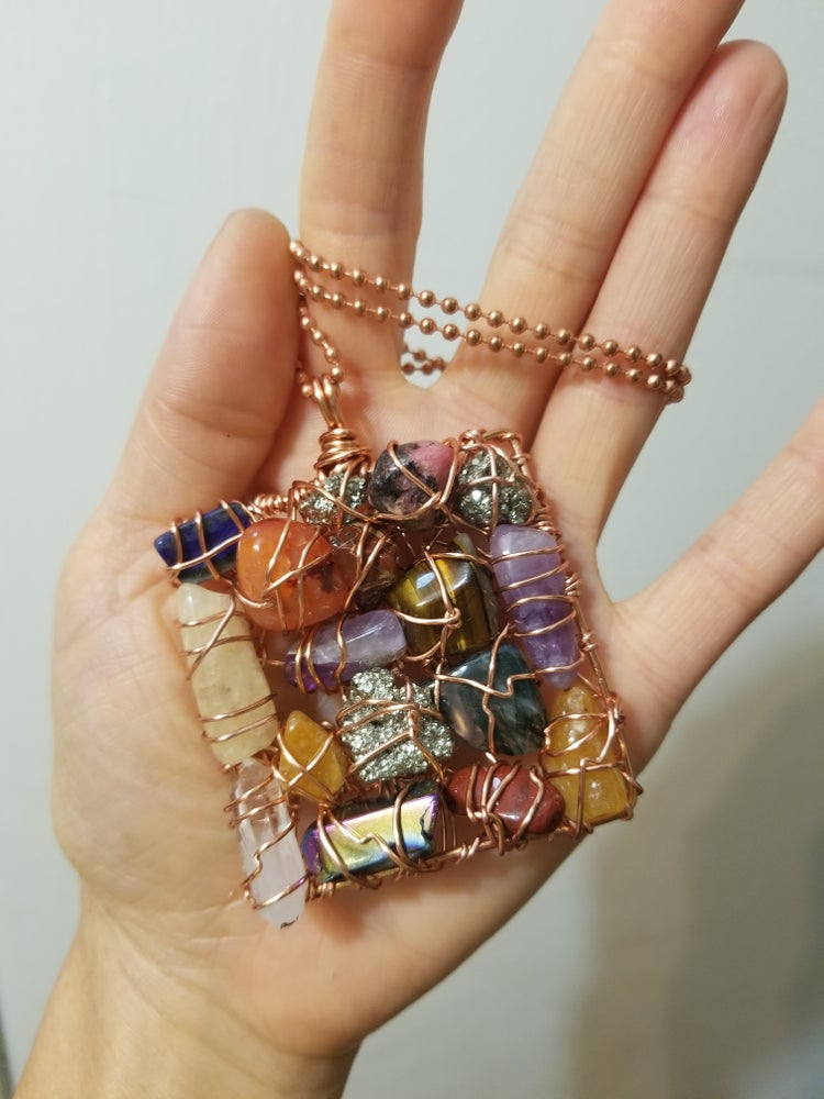 Image of Square multi stone cluster (made to order)
