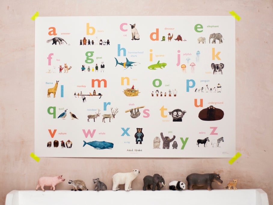 Image of Almost an Animal Alphabet Print