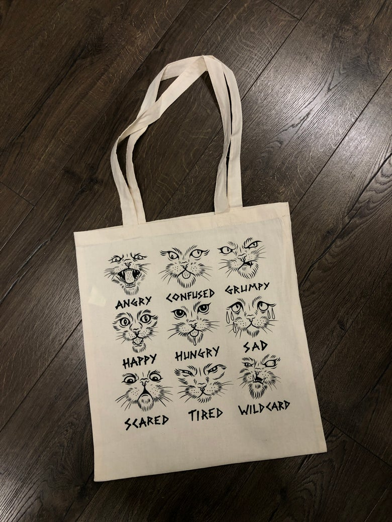 Image of Many states of cats, Tote bag