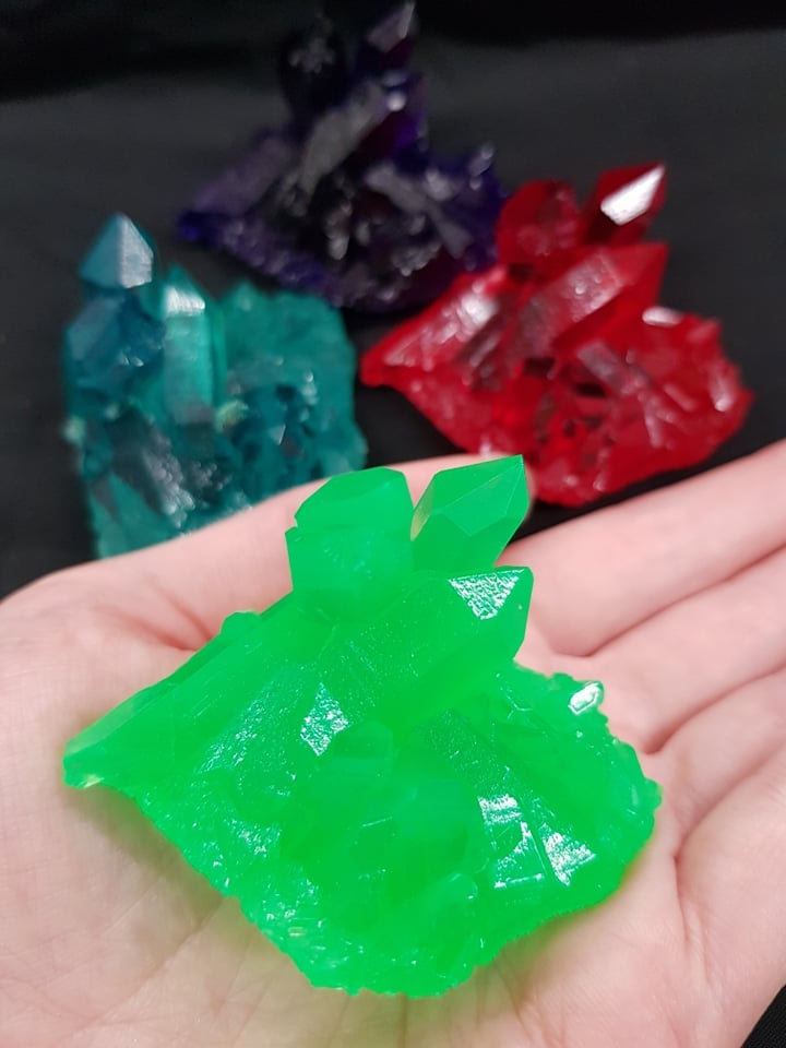 Image of Resin Crystal Cluster Dungeons and Dragons Prop / Kryptonite  Superman Cosplay