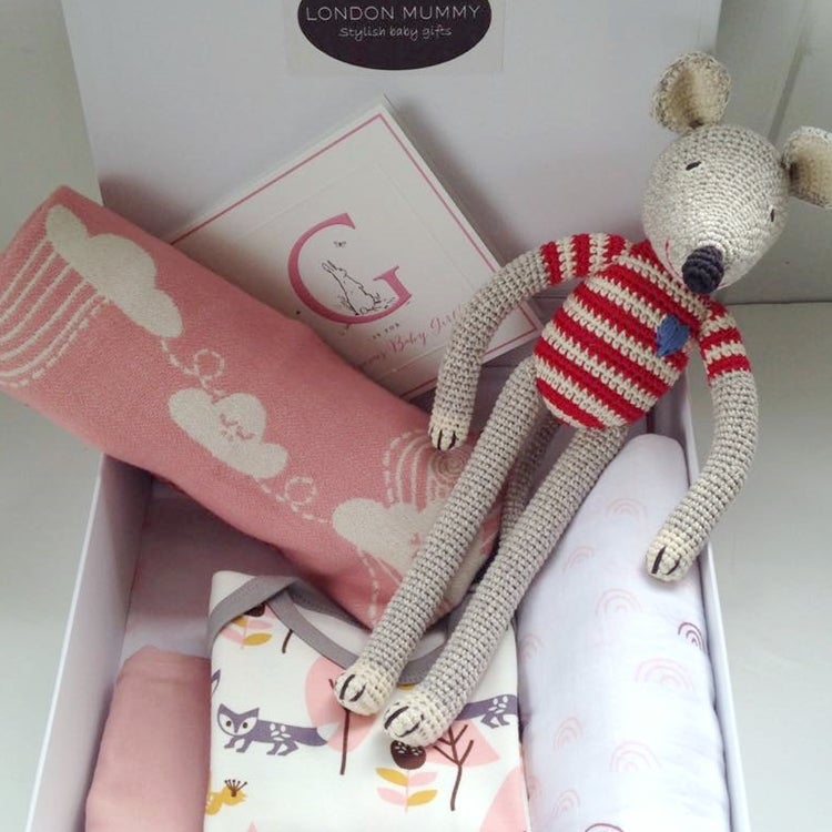 Image of Organic Fox & Mouse Baby Girl Box