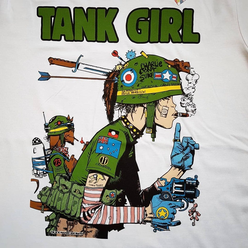 Image of Tank Girl Patrol T-Shirt - Jamie Hewlett Design ORGANIC