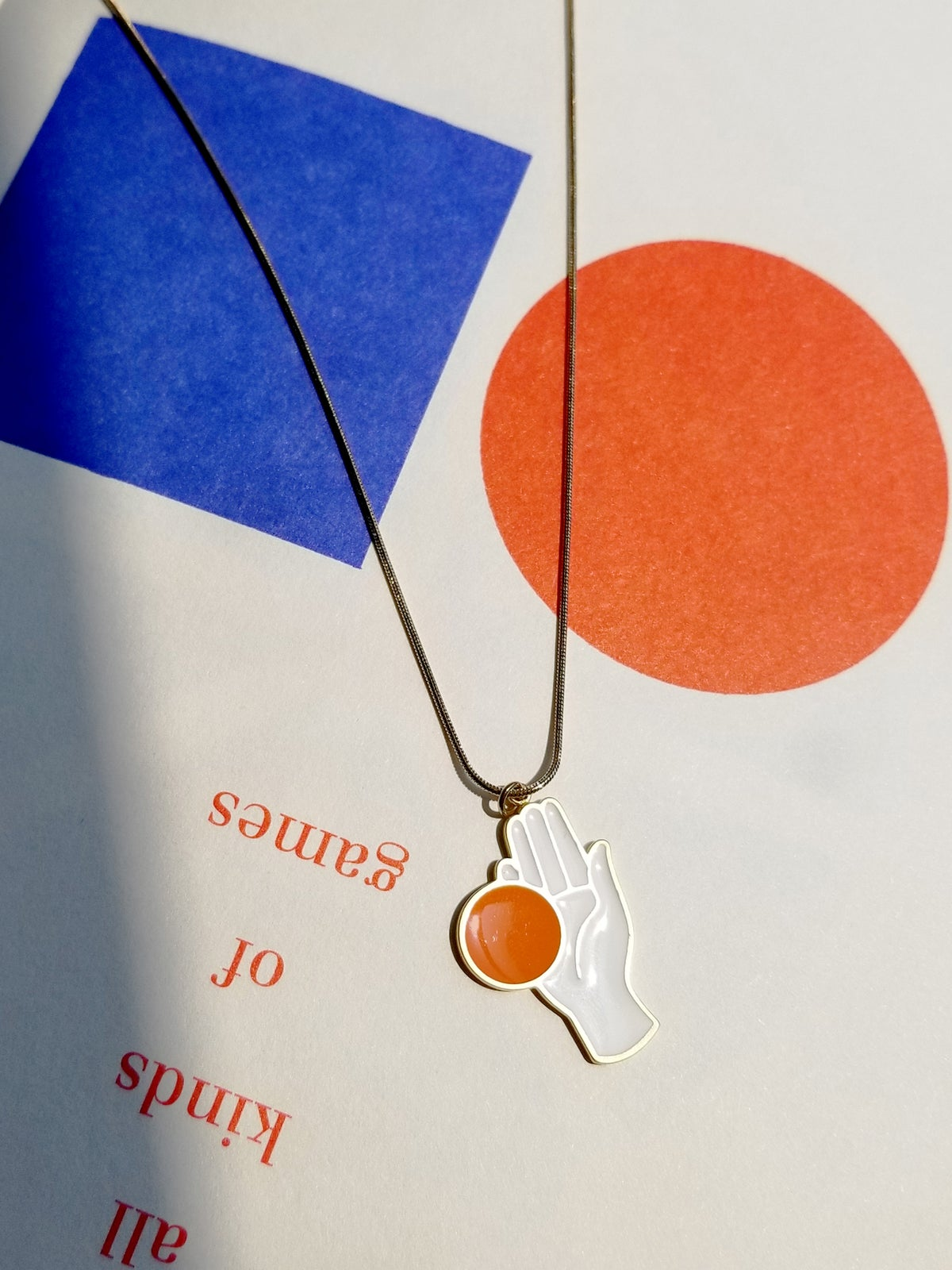Image of CHANCE NECKLACE • Stainless steel • Orange