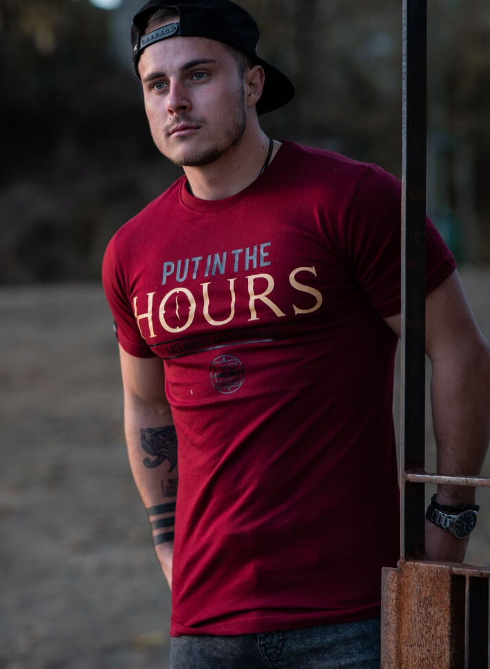 Image of Put In The Hours Shirt | Bordeaux
