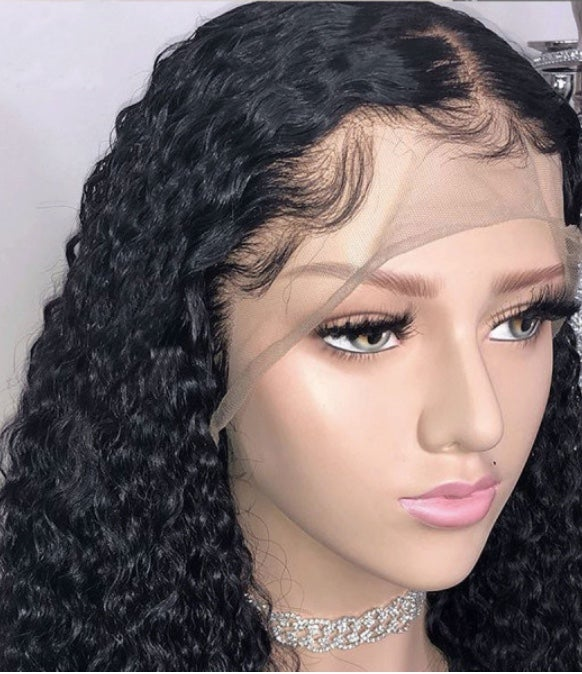 Image of Brazilian Deep Curly Frontal Wig
