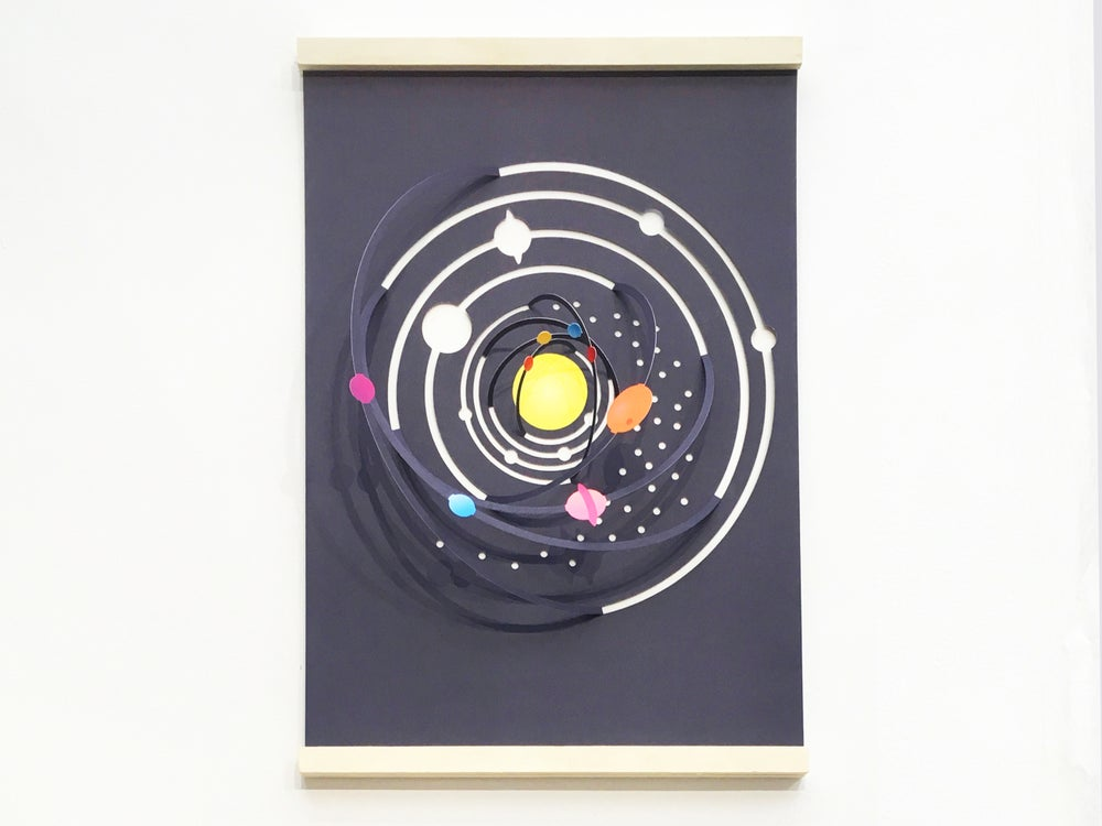 Image of A3 Fold Out Solar System Poster