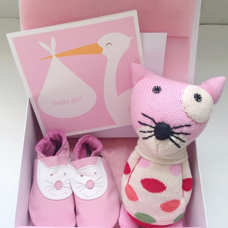 Image of Cute Cats Baby Girl Gift Set