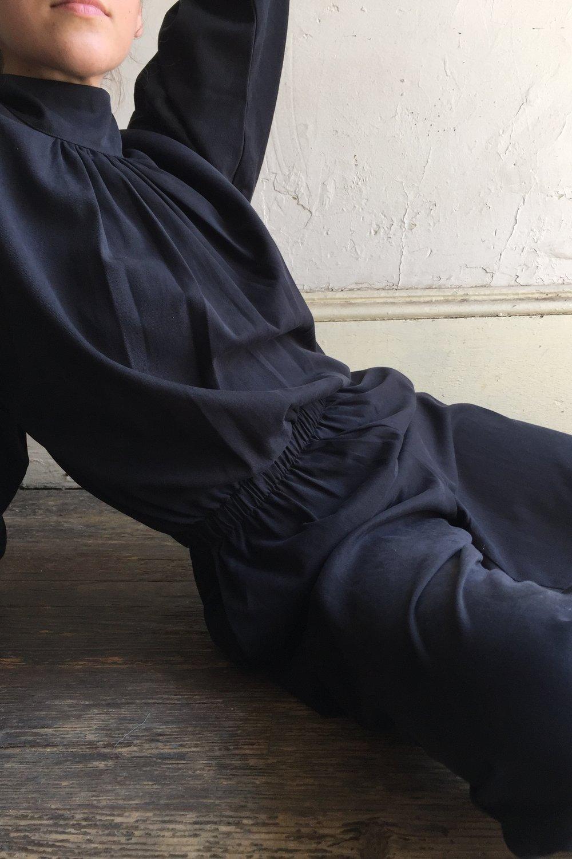 Image of Black Crane Tulip Jumpsuit