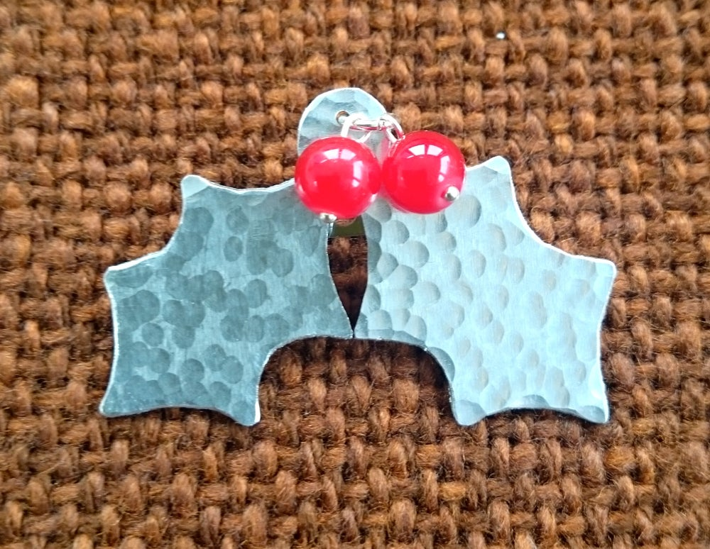 Image of Holly Brooch, Necklace or Earrings.