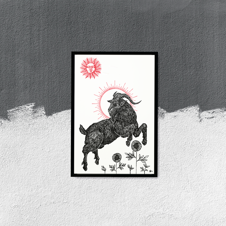 "Image of ""The Black Goat"", 13""x19"" Art Print"
