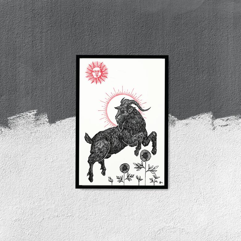 "Image of ""The Black Goat"", 13""x19"" Art Print"
