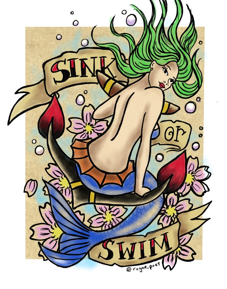 "Image of ""Sink or Swim"" Open Edition Fine Art Print by lin buckner"