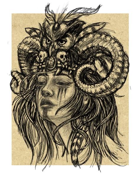 "Image of ""Warrior in Wait"" Open Edition Fine Art Print by lin buckner"