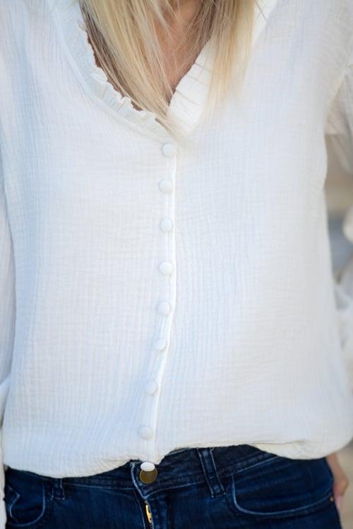 Image of BLOUSE GINA - BLANC CASSÉ