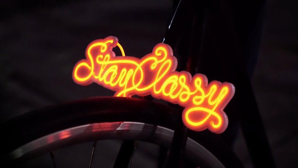 Image of Stay Classy Mini Neon Sign