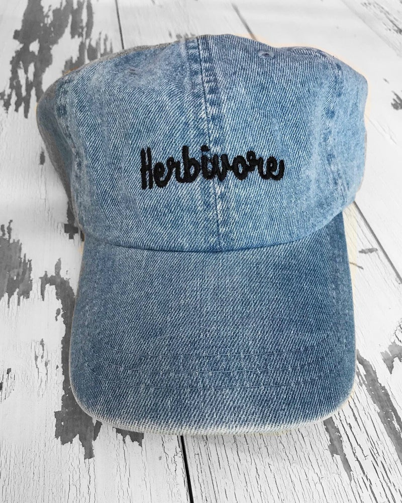 Image of Denim herbivore hat