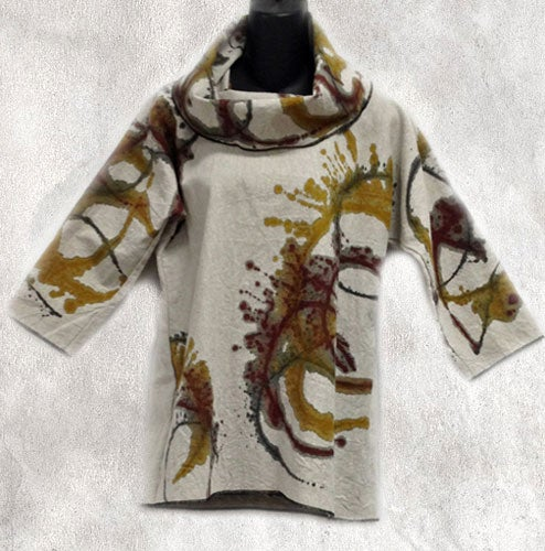 Image of Alison Top - 45%Linen/55% Cotton - hand painted