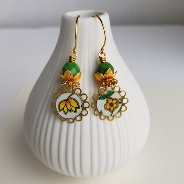 Image of Daisy Tin Earrings