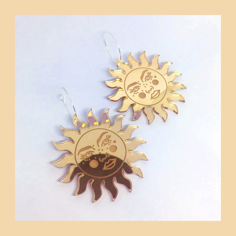 Image of Tarot Suns Hoops (Gold)