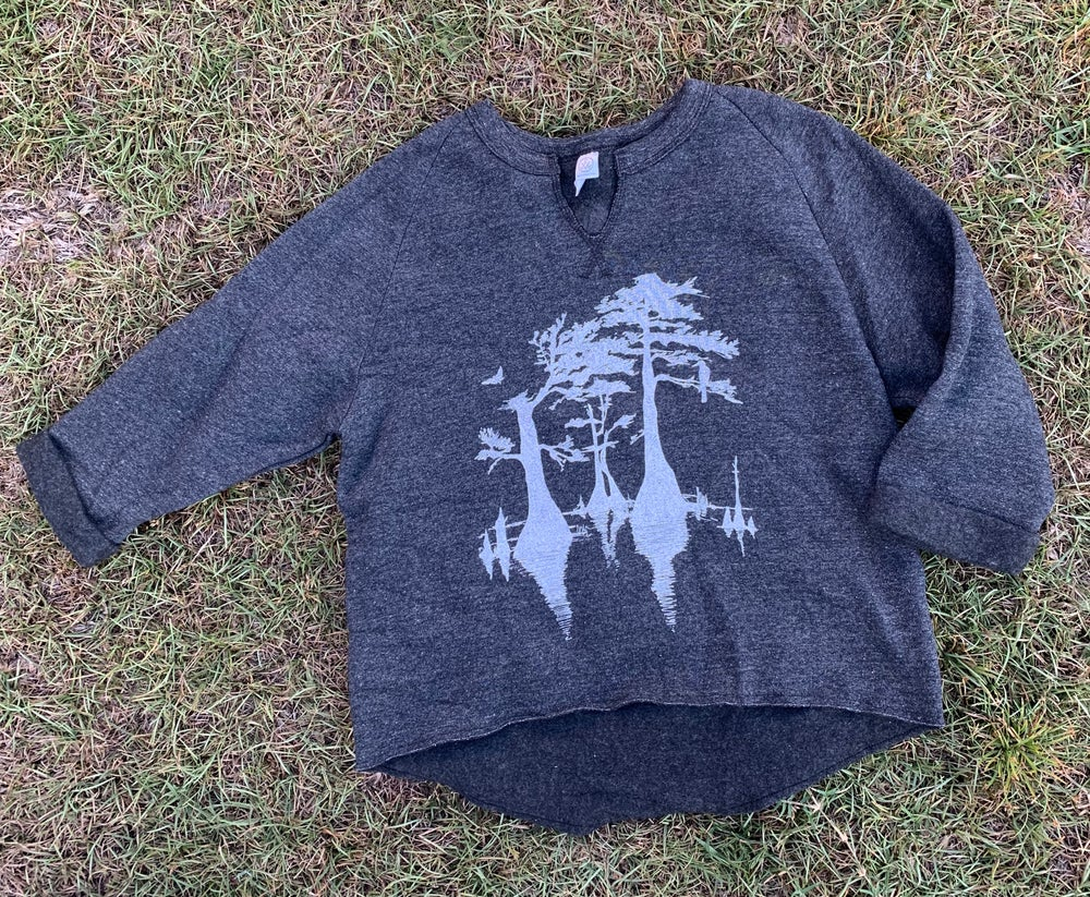 Image of Adult Cypress Tree Slouchy Sweatshirt