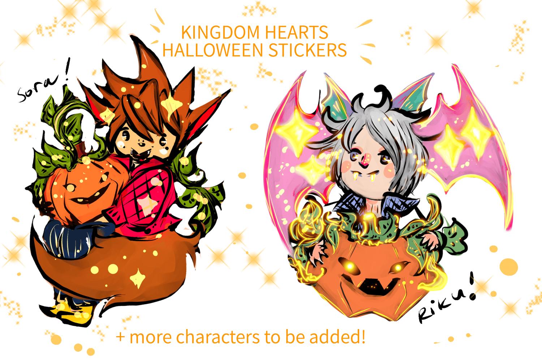 Image of Kingdom Hearts Halloween Stickers