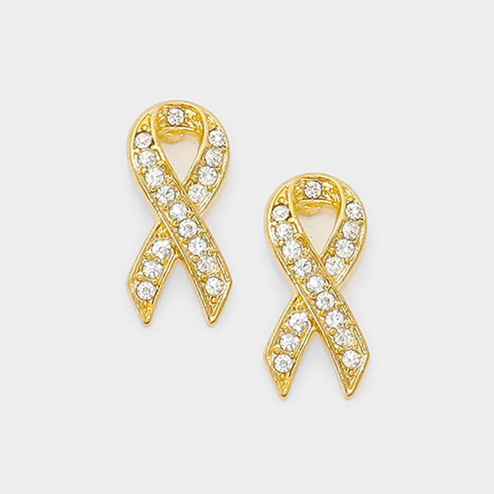Image of Pink Ribbon earrings