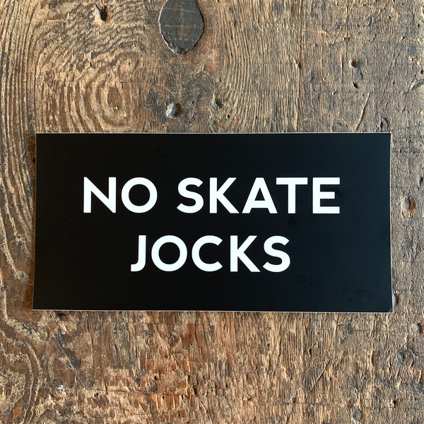 Image of 'No Skate Jocks' Bumper Sticker