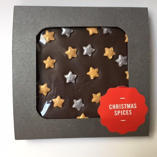 Image of Decorated Blocks - Christmas Spices - Dark Chocolate