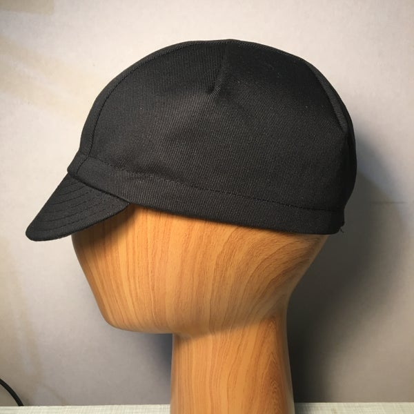 Image of Cotton twill cycling cap - custom pleated 3 panel