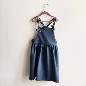 Image of Pinafore Dress-jeans