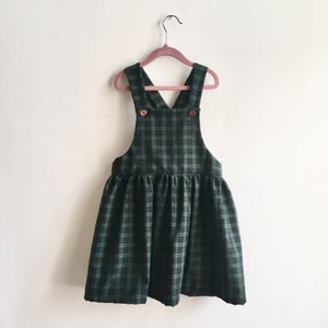 Image of Pinafore Dress-black watch