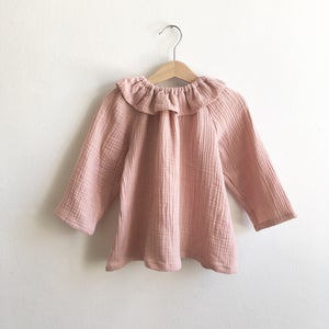 Image of Mavie Blouse rose double gauze