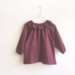 Image of Mavie Blouse- burgundy