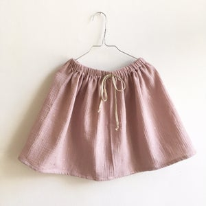 Image of Easy Skirt- rose gauze with golden sprinkles