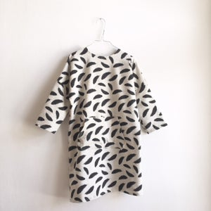 Image of Schoolgirl Dress - feather print
