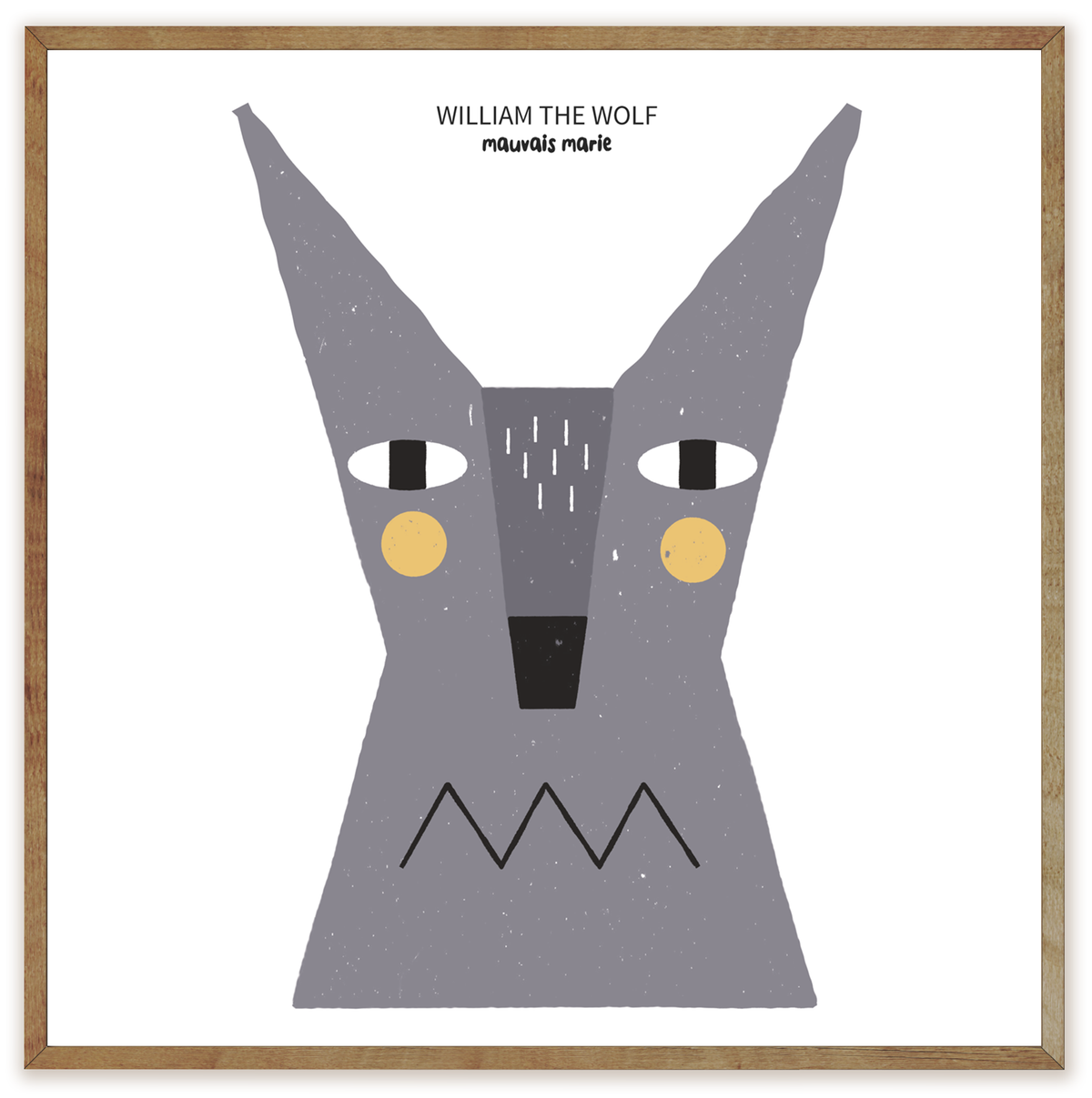 Image of William the Wolf print