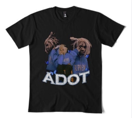 Image of ADOT VINTAGE BAND TEE - BLACK