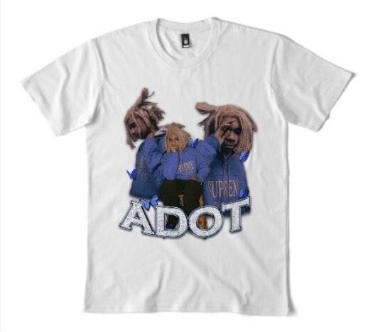 Image of ADOT VINTAGE BAND TEE - WHITE